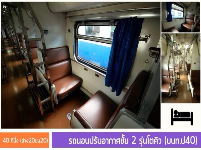 Bangkok (Hua Lamphong Railway Station) 19:30 - Suratthani - Koh Phangan 12:15